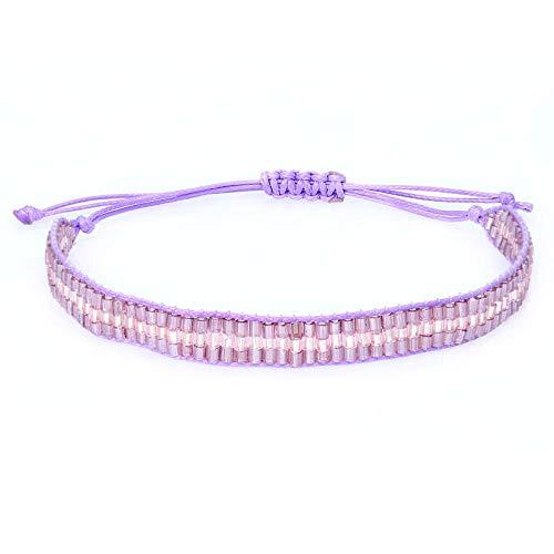 Bracelet Nouveau Cristal Verre Tube Perles Bracelet Fait Main pour Femmes Hommes Réglable Corde Bracelets Bracelet Bijoux De Mode Cadeau A-10