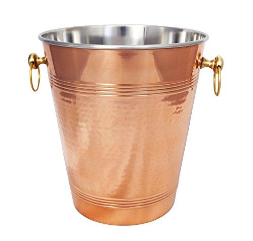 Weinkühler aus gehämmertem Kupfer