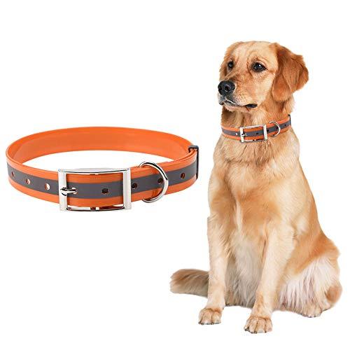 Winnfy Collar de perro reflectante Collar de perro Cinturón ajustable Collar Pet Tpu Collar Correa 4 colores