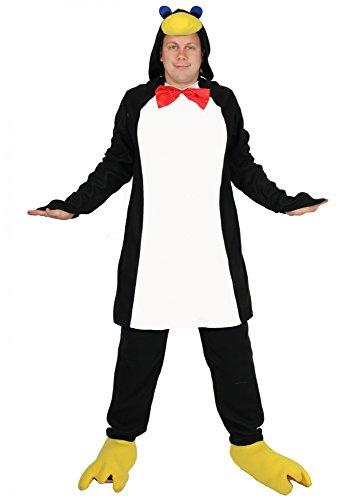 Foxxeo Pinguin Kostüm für Erwachsene - Tierkostüm Pinguinkostüm Tier schwarz weiß Fasching Karneval Damen Herren Größe L