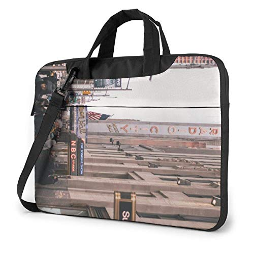 AOOEDM Laptop Case Computer Bag Sleeve Cover, Billboard Architecture Buildings Multi Functional Waterproof Travel Tablet Shoulder Briefcase Shockproof Carrying Handbag in 13 14 15.6 Inch
