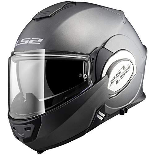 casco moto l52 LS2 Casco Moto Compatibile con LS2 VALIANT FF399 SOLID Matt Titanium - M