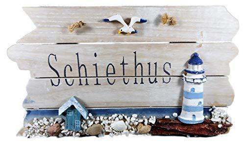 Maritim Schiethus Schild 22 cm Leuchtturm Möwe Muschel Wohnen Deko GRF 39.3538 A