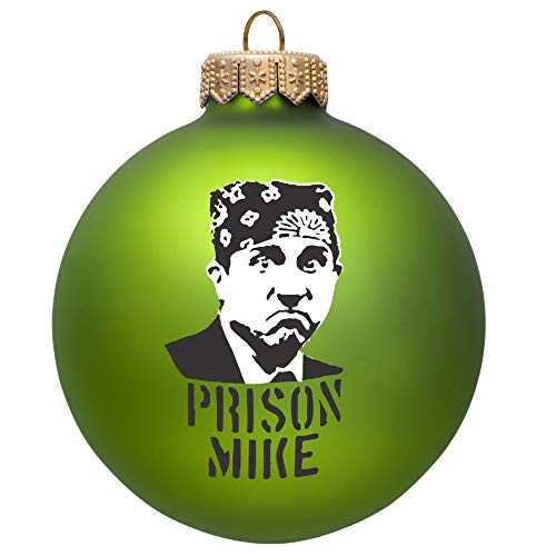 The Office Ornament   Prison Mike Glass Ball Tree Ornament - The Office Merchandise For Men And Women