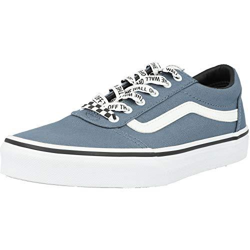 Vans Unisex Kinder Ward Canvas Sneaker, Blau ((Checker Lace) Blue Mirage/White Xxo), 33 EU