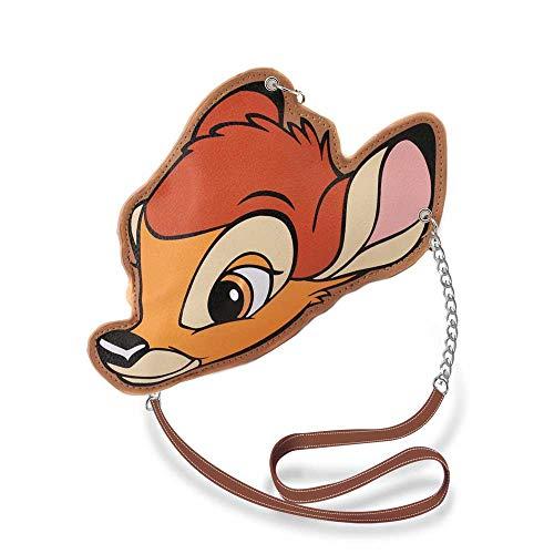Karactermania Diseny Icons Bambi-Slim Kette Schultertasche Umhängetasche, 20 cm, Brown