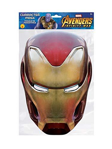 Generique - Avengers Infinity War Iron Man-Pappmaske rot-Gold