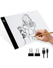 Mesa de Luz Dibujo para Calca Tableta de Luz de Iluminación de la Caja de Alimentación USB Recargable Ideal para Animacion/Tatoo Dibuja