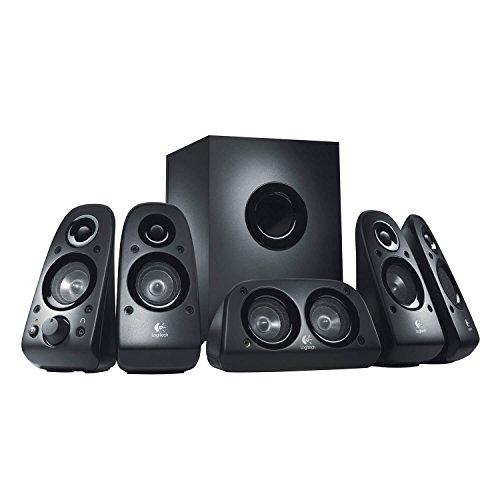 Logitech Z506 6-Piece 5.1 Channel Surround Sound Speaker System, Black (Renewed)