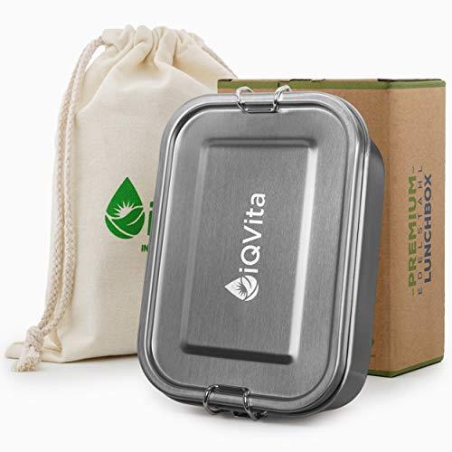 iQVita® Premium Edelstahl Brotdose –...