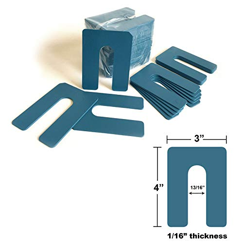 1 16 x 3 4 Plastic Blue - All items free shipping U-Shims 150 Package Special sale item