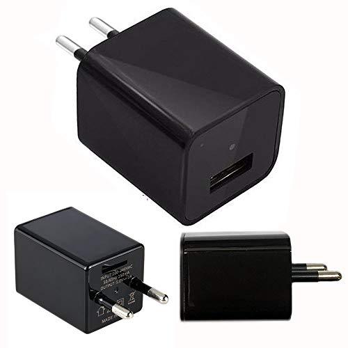 Carregador Universal com Câmera Espiã, Gravação Contínua, HD, Sensor de Movimento 32GB