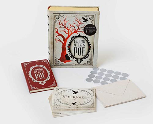 Edgar Allan Poe Deluxe Note Card Set With Keepsake Book Box