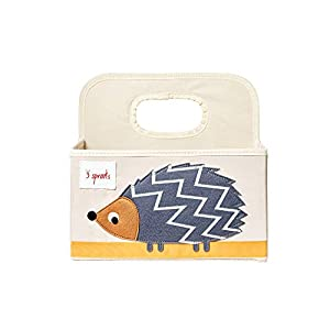 3 Sprouts Baby Diaper Caddy – Organizer Basket for Nursery, Hedgehog