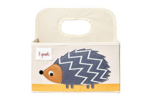 3 Sprouts Baby Diaper Caddy - Organizer Basket for Nursery, Hedgehog
