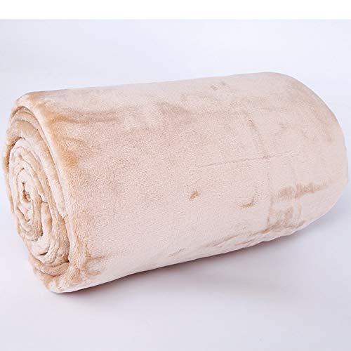 LBRVICTRY Flauschige Kuscheldecke Zweiseitige Wohndecke Hochwertige Decke Sofadecke Warmweich Microfaser Fleecedecke Tagesdecke Für Bett,Apricot-110 * 140cm