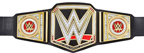 WWE Championship Showdown Deluxe Role Play Title, Authentic Styling with 4 Swappable Side Plates, Adjustable Belt for Kids Ages 6 Years Old & Up