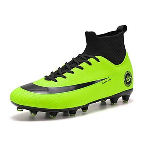Botas de fútbol Zapatos de fútbol de Alta Ayuda para Hombres Uñas rotas largas Entrenamiento Transpirable Antideslizante Galvanoplastia Dorado