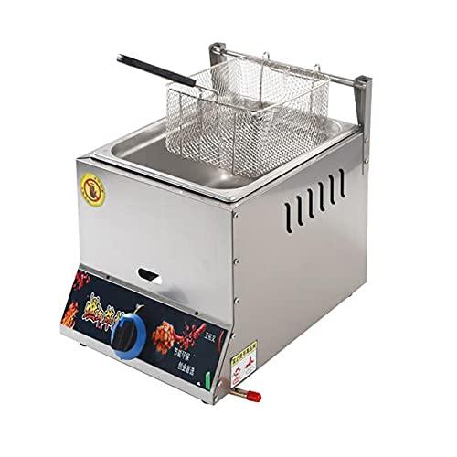 ARCH Freidora de Gas, freidora de Acero Inoxidable de 12 l, Antideslizante, Ahorro de energía, fácil Limpieza para restaurantes comerciales Familiares