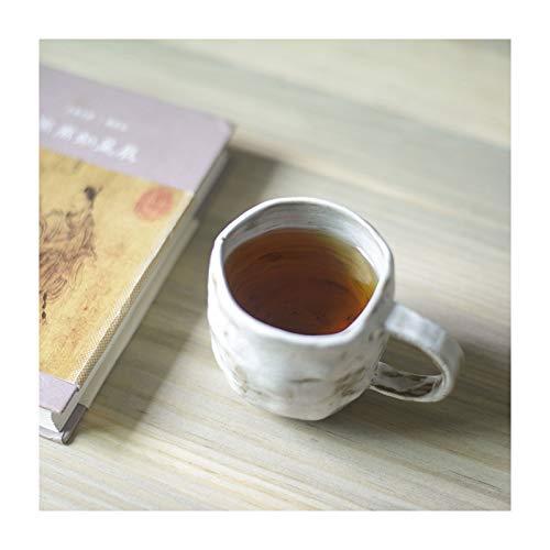 Taza de cerámica retro taza de café hecha a mano taza de té 220ml para oficina y hogar estilo japonés taza de agua (color: blanco)