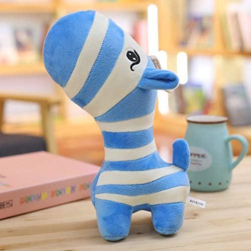DONGER Gestreifte Zebra Puppe Spielzeug Nette Ragdoll Puppe Farbe Giraffe mädchen Kinder, Blaue Streifen, 55cm