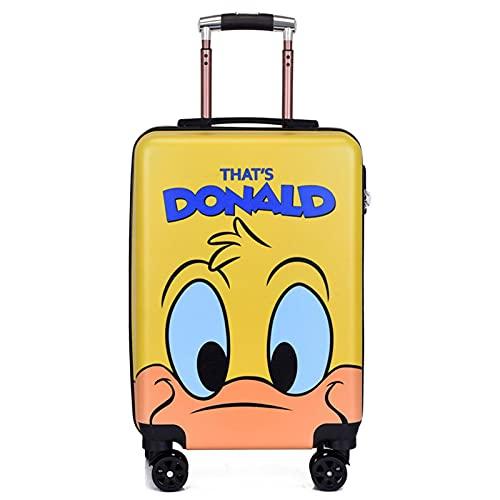 Valigia dei Bambini Svegli, Bagagli di Viaggio del Fumetto, Bagagli di Viaggio del Ragazzo E della Ragazza del Boy E della Ragazza Piccola Valigia con 4 Ruote,Don Duckling Yellow