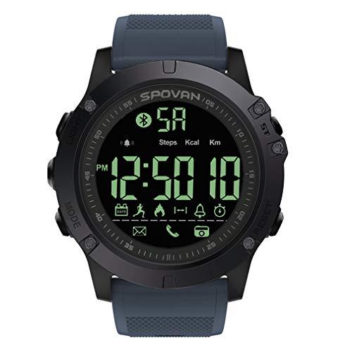 Bluetooth Sport Digital Smart Watch voor mannen 24 uur all-weather bewaking Smart Watch voor iOS en Android