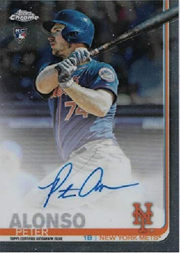 2019 Topps Chrome Peter Pete Alonso - Topps Certified Autograph Issue - New York Mets Baseball Rookie Card - SP SHORT PRINT RC #RAPA