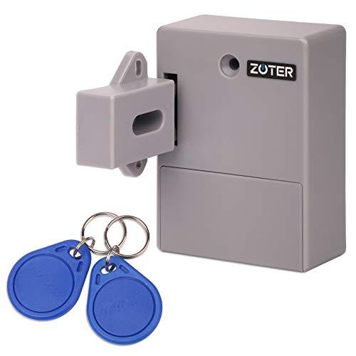 Zoter Serratura RFID, senza chiave, senza foro, a batteria, per cassetti nascosti e armadietti, EDL-RDL-1