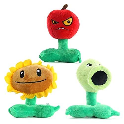WUTONG Spielzeug 3 Teile/setsunflower Cherry Bombe gefüllte Tiere Puppe Kinder Spielzeug 16-18 cm Hohe Chongxiang Pflanzen vs Zombies Plüschspielzeug Zombie Figuren