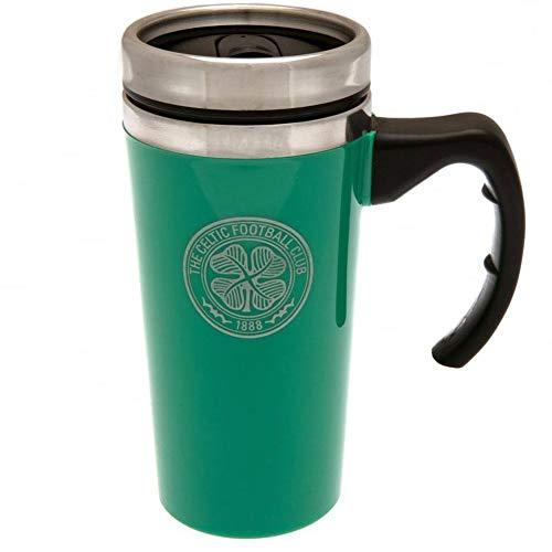 Celtic FC Official Aluminum Travel Mug (One Size) (Green)