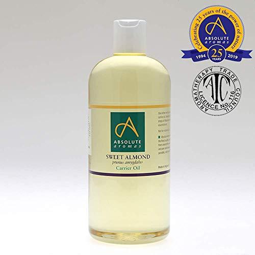 Absolute Aromas süßes Mandelöl 500ml - Rein, natürlich, kaltgepresst, tierversuchsfrei, vegan, ohne Gentechnik - Massageölbasis und Feuchtigkeitsspender für Haare, Haut, Gesicht und Nägel