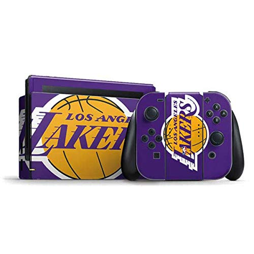 Skinit Decal Gaming Skin Compatible with Nintendo Switch Bundle - Officially Licensed NBA Los Angeles Lakers Large Logo Design