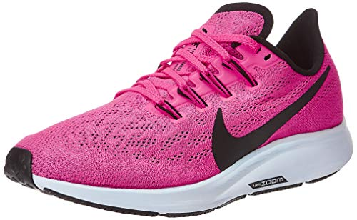 Nike Women's Air Zoom Pegasus 36 Running Shoes, Hyper Pink/Half Blue/Black, 8