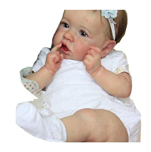 ZDLT Muñeca de bebé Reborn de silicona, muñeca de vinilo, muñeca de bebé realista.