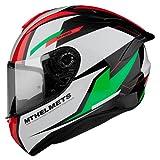 Casco Moto Integral homologado MT Targo Pro Modelo Sound C6 Verde Perlado Brillo Dot Unisex Talla M