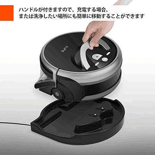ILIFEShinebotW400ロボット掃除機洗浄機床を洗浄計画式洗浄力が強い浄水と汚水を分離4つの掃除モード…(W400)