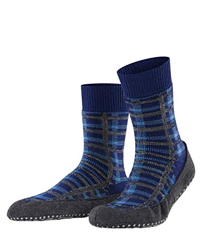 FALKE Herren Cosyshoe Checked M HP Hausschuh-Socken, Blau (Bluecollar 6733), 39-40