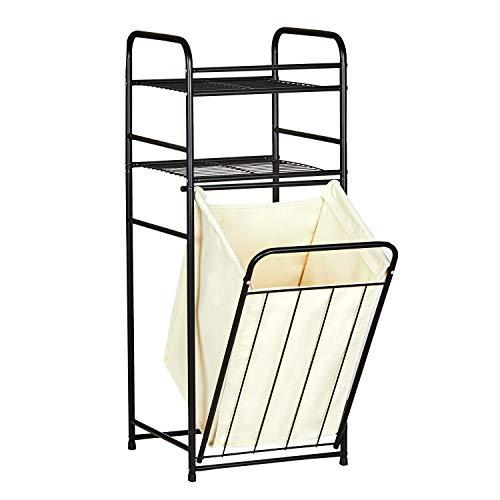 DICTAC wasmand van bamboe badkamerkast met 2 legplanken
