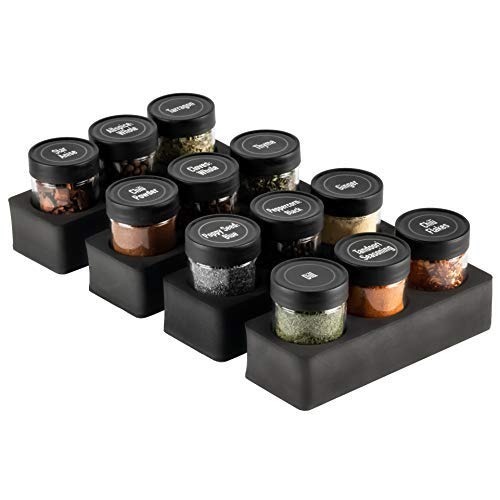 AllSpice InDrawer Spice Rack (12 Hole with Jars)