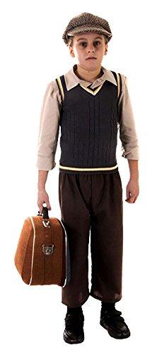Rimi Hanger Victorian Boy Oliver Twist Costume Kids Evacuee Boy Book Week Fancy Dress Outfit Evacuee Boy Costume Large 10-12 Years