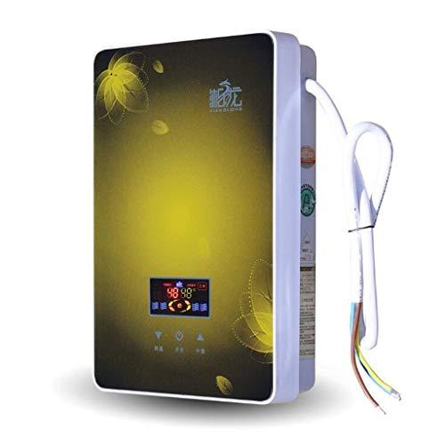 LYHY Calentador de Agua Caliente de Temperatura Constante de baño instantáneo electrónico de 7KW con Pantalla LCD (Color: Rojo)