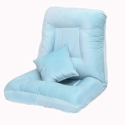 LJFYXZ Canapé Paresseux Chaise Canapé lit Simple Réglage à 5 Vitesses Doux et Confortable Fille Salon Chambre Petit canapé Bleu Gris (Couleur : Bleu)
