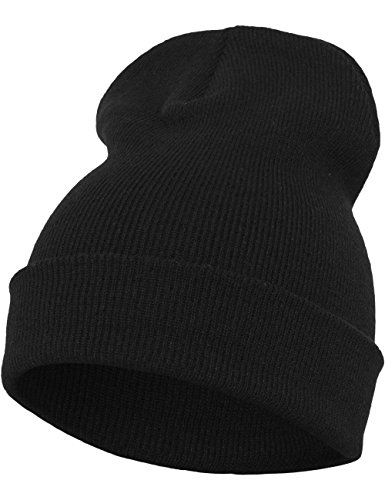 Flexfit Heavyweight Long Beanie One Size Bonnet Unisex-Adult Noir
