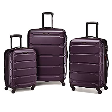 Samsonite 68311 Omni PC Hardside Spinner  20 24 28,  Purple,  3 Piece Set