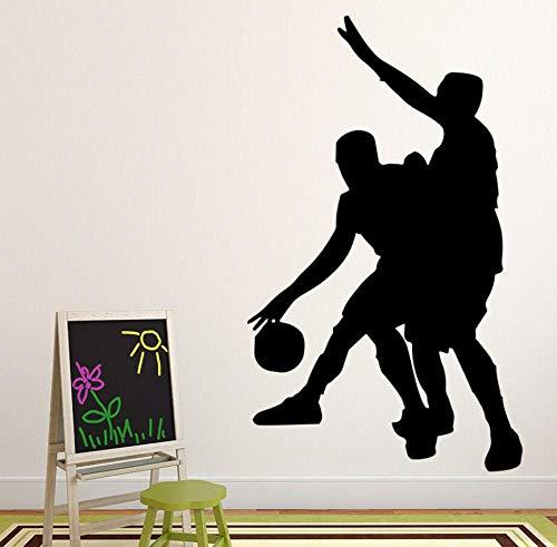 Wandaufkleber Wandtattoo Sport Basketball Spieler Gesunde Kunst Teenager Jungen Schlafzimmer Home Fenster Stadion Aufkleber Vinyl 57 × 34 cm