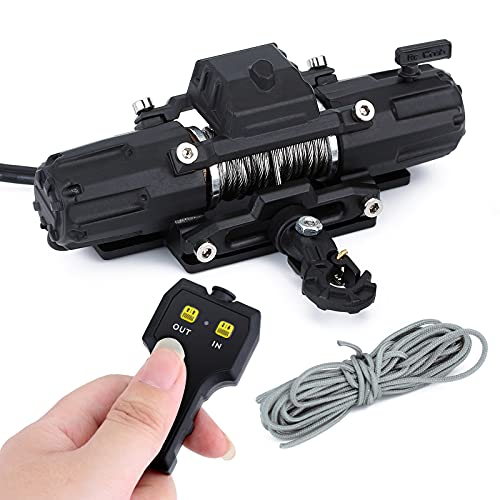 INJORA RC Winch Dual Motors Automatic Winch Wireless Remote Controller System for 1:10 RC Crawler Car Axial SCX10 90046 TRX4 TRX6