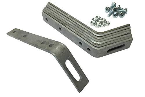 Dachhaken Set (Metall) für PVC & Zink Dachrinnen (3,0 mm (für Zink) > Satteldach)