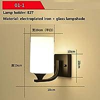 装飾的な壁ランプウォールランプウォールライト寝室モダンシンプルリビングルーム創造性ガラスランプシェード北欧スタイルランプホルダーベッドサイドランプ2