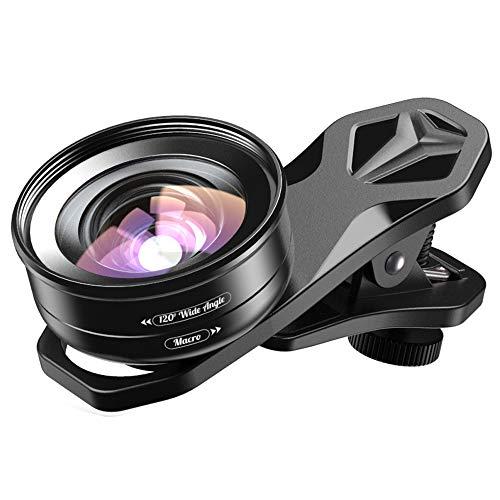 Apexel 2IN1 Objectif de caméra de téléphone Portable-Lentille Macro...